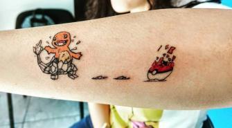 Charmander Pokémon tatuaje realizado por Nowone