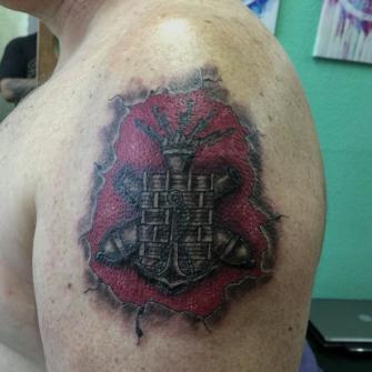 Colegio militar tatuaje realizado por Juan Calavera