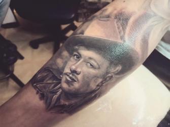 PEDRO INFANTE tatuaje realizado por Old Gangsters Tattoo Shop