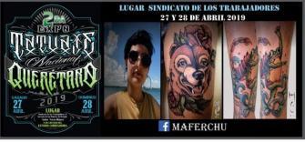 Presente en Expo tatuajes Queretaro tatuaje realizado por Maferchu Tattoo