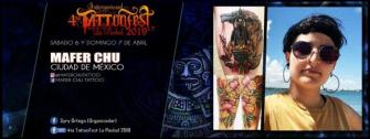 Presente en Tattoo Fest La Piedad tatuaje realizado por Maferchu Tattoo