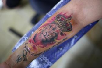 LEON  tatuaje realizado por Old Gangsters Tattoo Shop