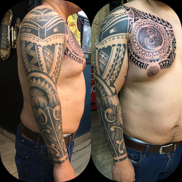 Mahori tatuaje realizado por Rene pacheco