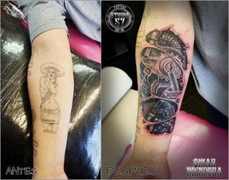 Cover  Biomecanico  tatuaje realizado por Omar Mendoza