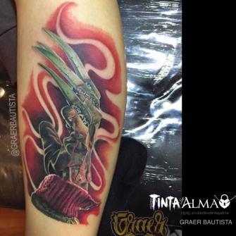 Mano de el joven manos de tijera tatuaje realizado por Graer Bautista