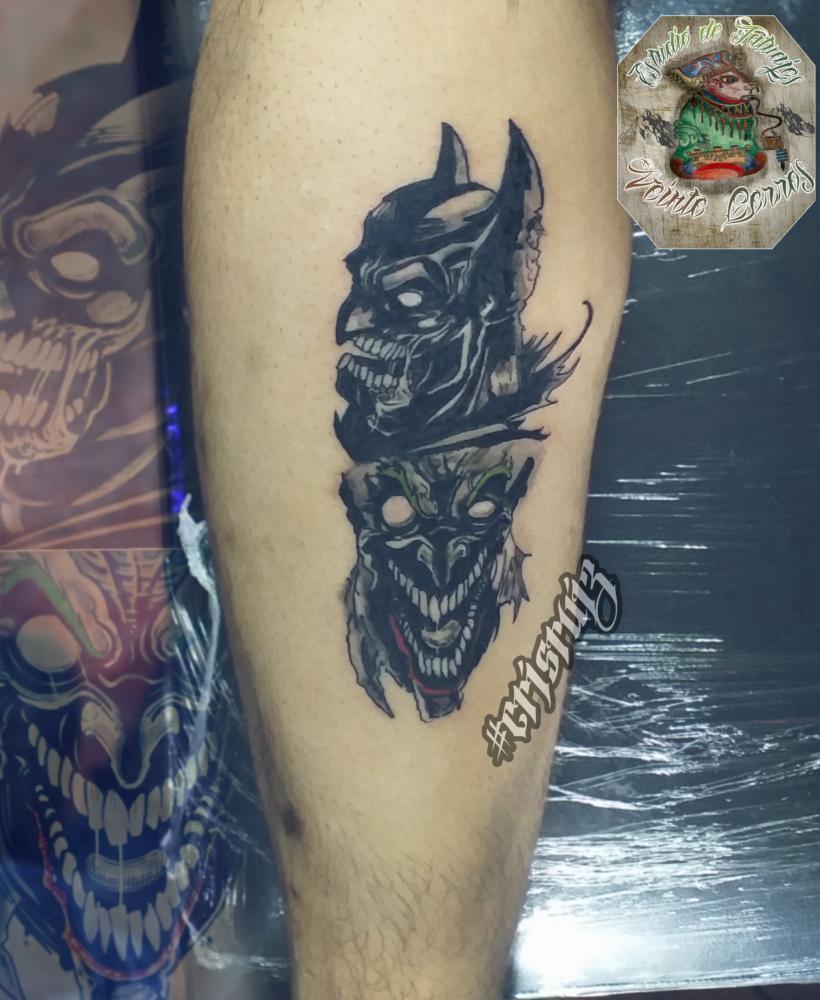 Batmanguason  tatuaje realizado por Cristhian Ruiz