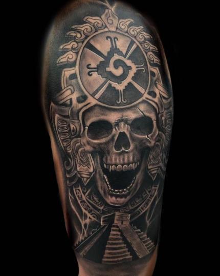 Han notado pero me late hacer cráneos? ???? tatuaje realizado por Angel Ruiz (Hard Core)