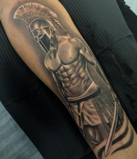 Aquiles que hice hace unos días ?? tatuaje realizado por Angel Ruiz (Hard Core)
