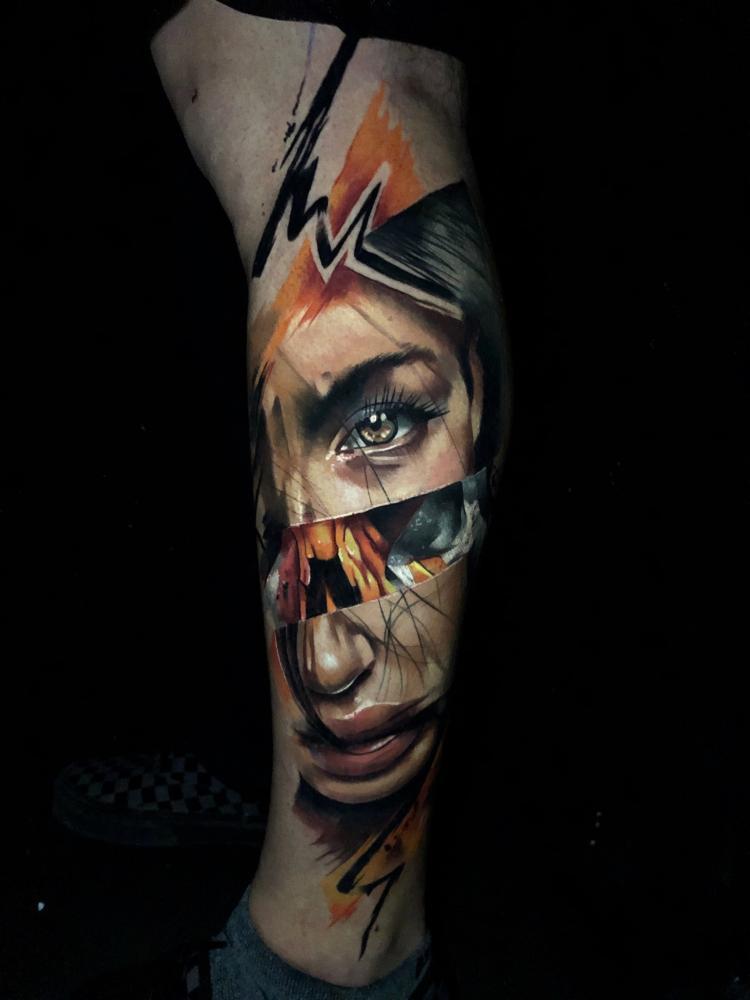 N tatuaje realizado por Armandean