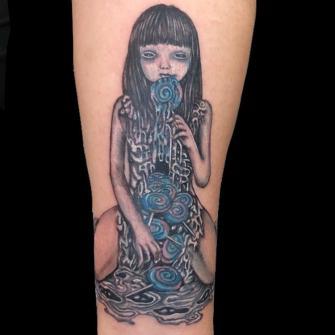 Muñeca  tatuaje realizado por Rene pacheco