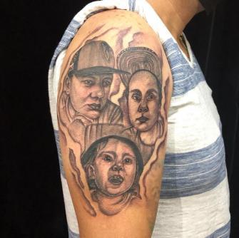 Tattoo retratos  tatuaje realizado por Rene pacheco