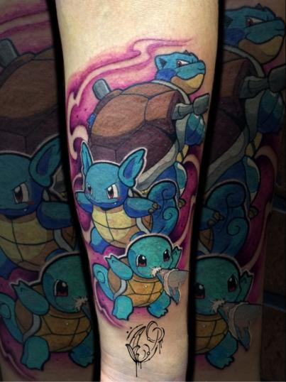 Pokémon  tatuaje realizado por Christian Garcia (Otto)