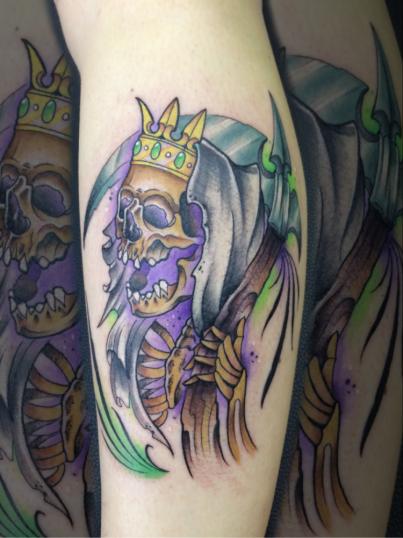 Muerte  tatuaje realizado por Christian Garcia (Otto)