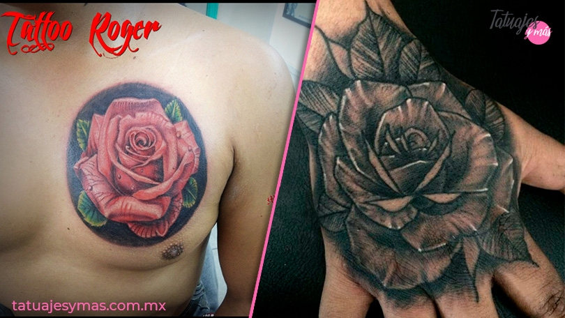 Imágenes de tatuajes de rosas para hombres y mujeres